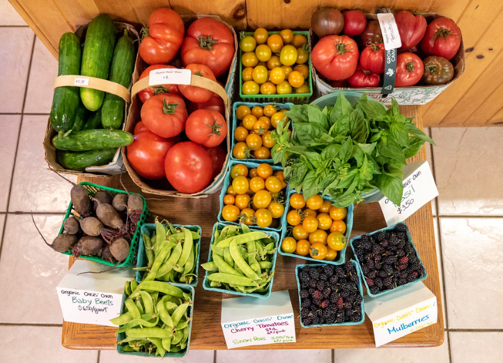 A Selection of Local Produce and Organic Food