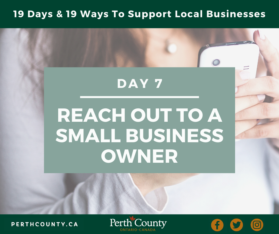 Reach Out To a Small Business Owner