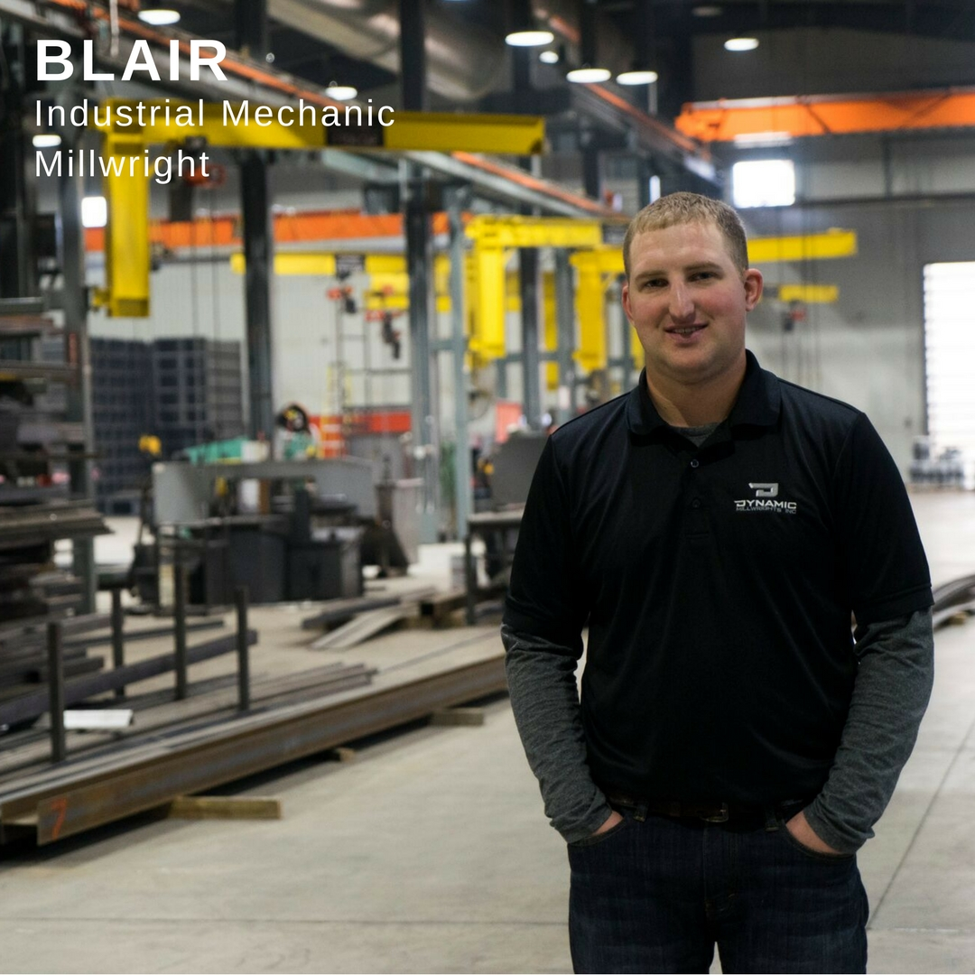 Blair Industrial Mechanical Millwright Profile Poster Link