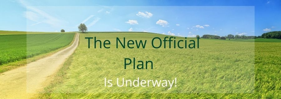 The New Official Plan is Underway