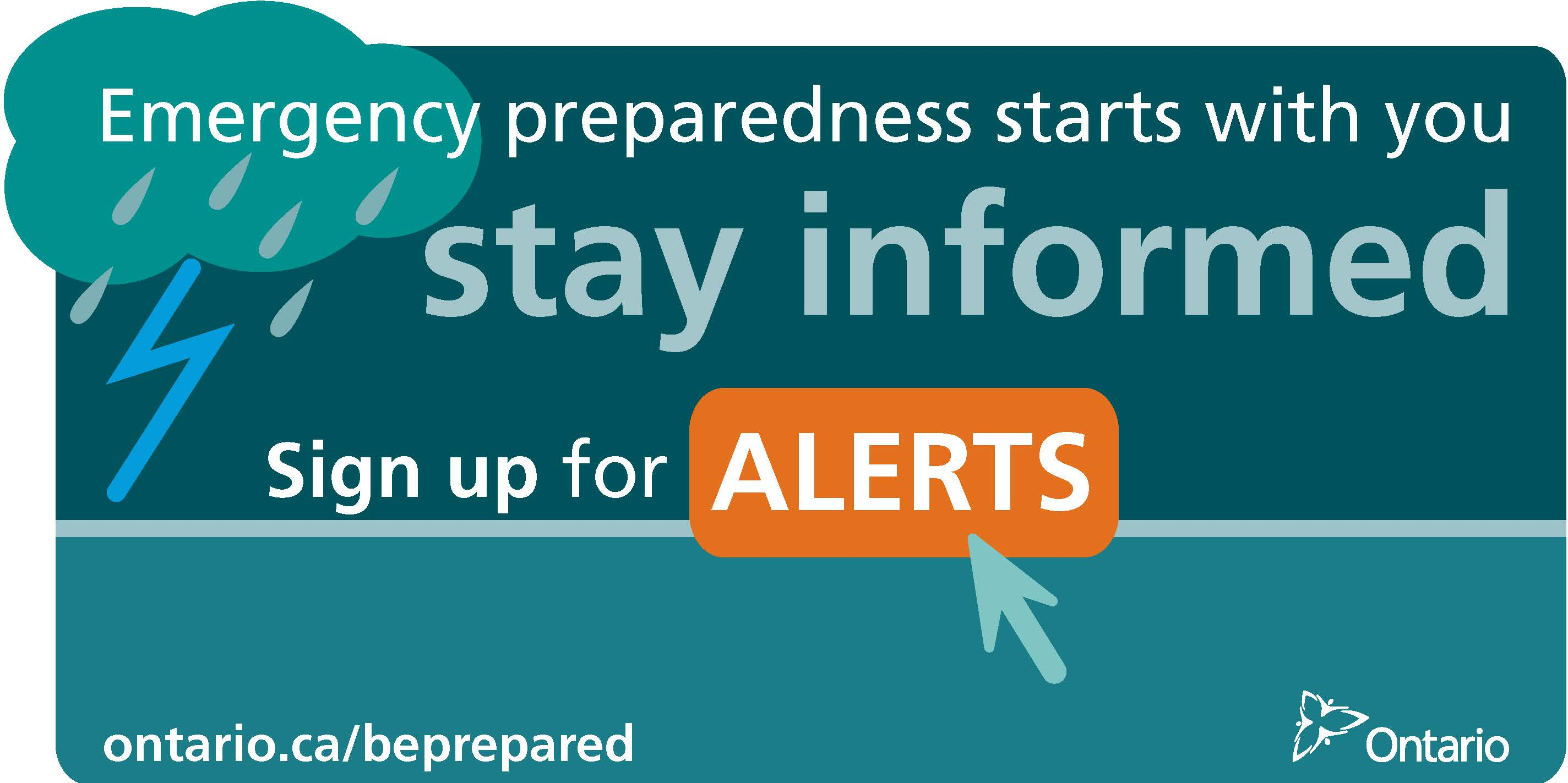 Image showing the website to visit for Emergency Alerts